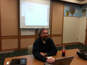 Dennis Galvin presenting on HTML5 Builder